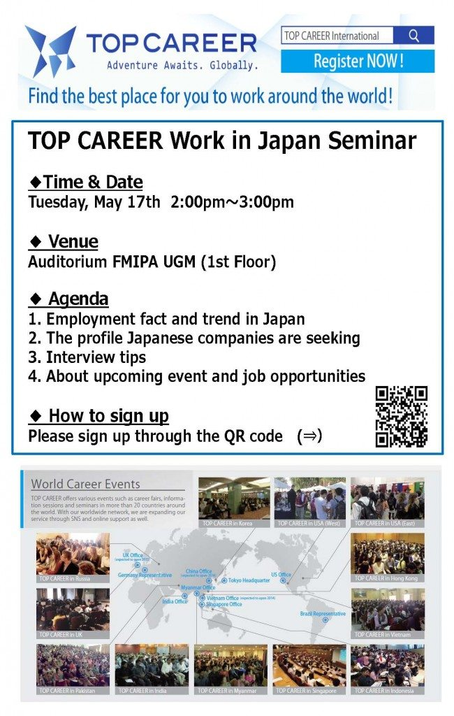 TOP CAREER Seminar @UGM